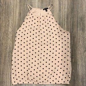Express dressy polka dot blouse cami